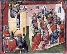 A university class, 1350s