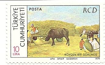 a village scene with women