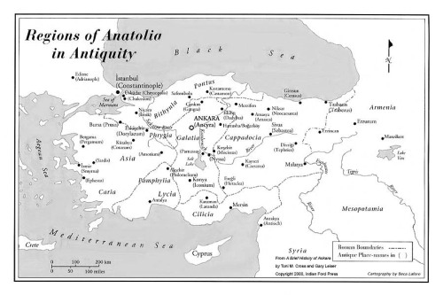 Map Anatolia in Antiquity