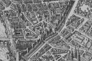 Paris 1615 Tour de Nesle, Porte de Buci et de Abbaye St. Germain des Prés