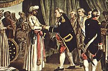 French Admiral meeting with Haider Ali 1789