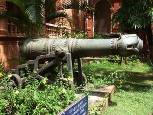 Tippu's cannon at Shrirangapatana