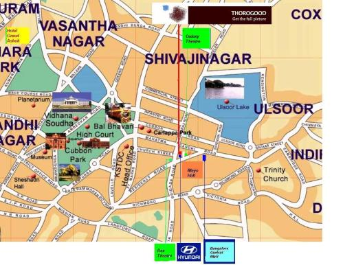 bangalore map Ulsoor Road