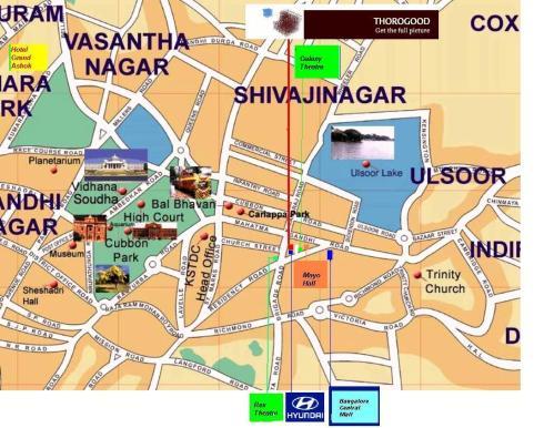bangalore map Ulsoor Road