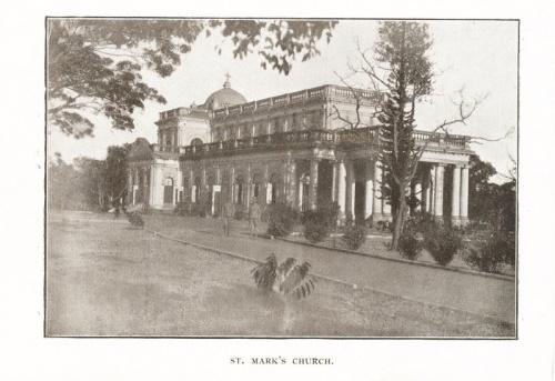 Bangalore St Mark's Church early print