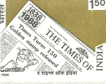 Times of India stamp