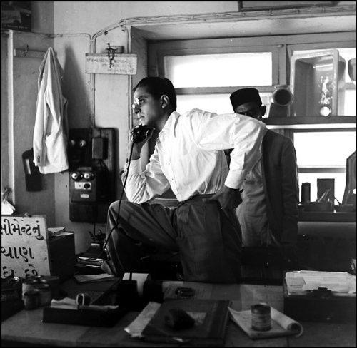 Ushakant Ladiwala in his office