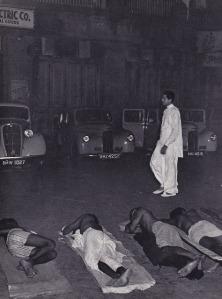 Ushakant walking after dark