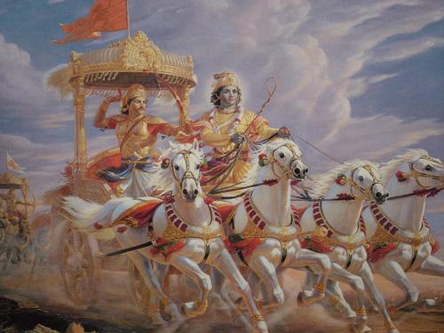 Mahabarata Chariot and Archer
