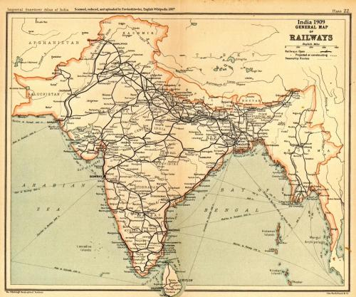 Railways of India 1909