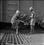 Opening the cargo door Jamshedpur 1951
