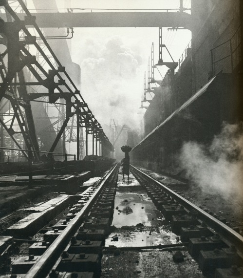Woman on a railroad 1951