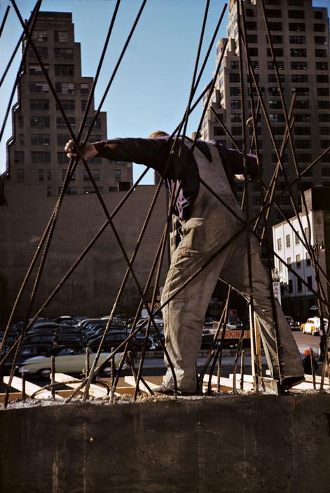 Construction worker New York City 1953