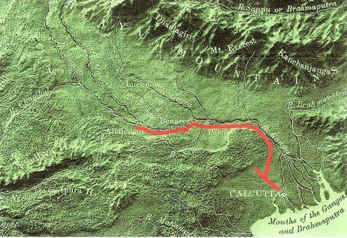 map East Indian Railways 1850s