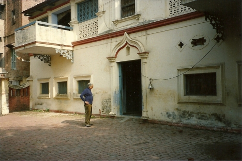 the door to Papaji's study