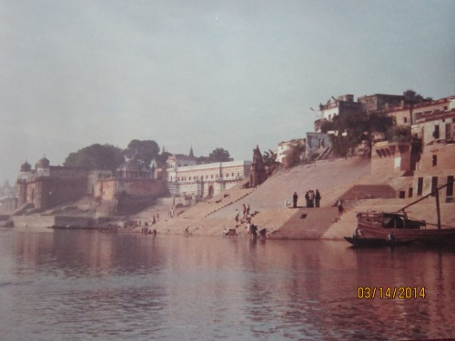 Ravi's photo of the ghats 1977