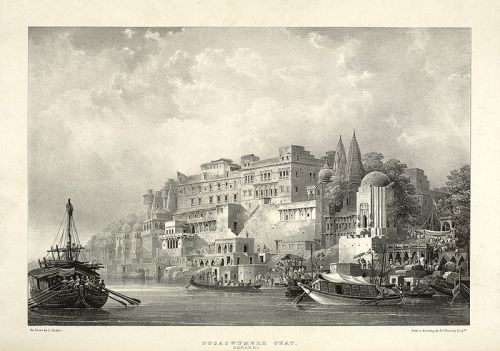 Dusaswumedh Ghat by James Prinsep 1834