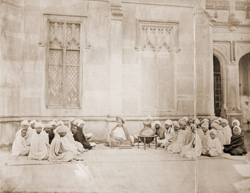 Pandit Bapudeva Sastri_(1821-1900)  teaching a class of astronomy