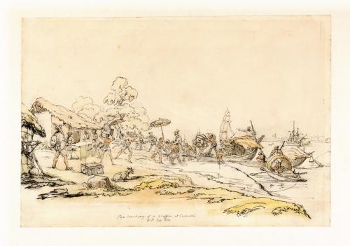 Arrival of a civil servant in Calcutta, by William Prinsep 1822