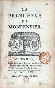 princess La princesse de montpensier 1662 frontpiece, first edition