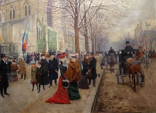 The American Cathedral of Paris 1890 by Jean Béraud