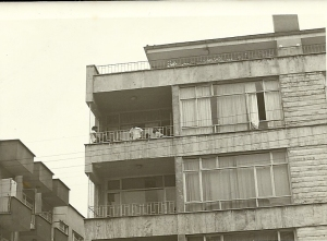 Tunus Cad. apartment with children on the balcony