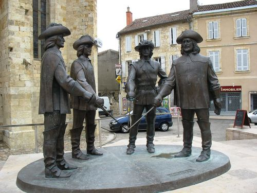 The Musketeers in Condom, France, by Zurab Tsereteli