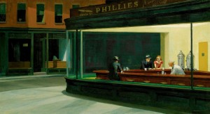 The Nighthawks by Edward Hopper 1952