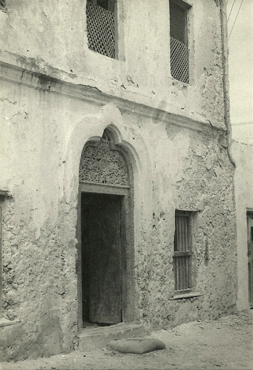 A traditional doorway carving, already rare in the 1960s