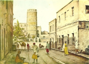 The Jama Mosque and street scene in Hamar Wein