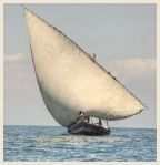 A dhow along the East African Coast