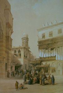 David Robert's bazaar, 1838