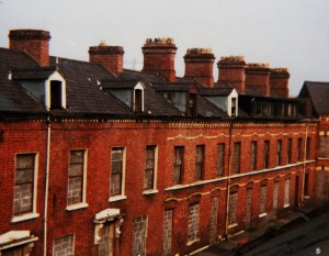 bricked-in row houses 1981