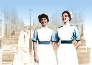 call the midwife Jennifer Worth in uniform photo from The Midwifes Sister Christine Lee