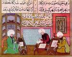 omar khayyam Ottoman miniature with Persian writing