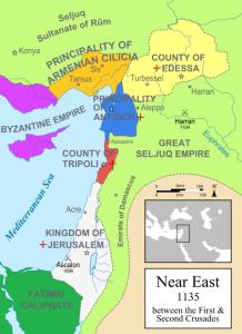 Omar Khayyam Map Crusader states 1135 CE