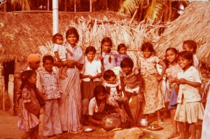 Shakuntala and the neighborhood children