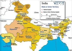 map north india