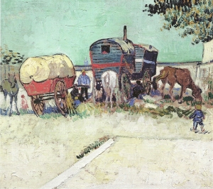 Vincent van Gogh, The Caravans, Gypsy Encampment Near Arles, 1888