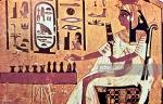 Egypt wall painting from tomb of Nefertari Thebes