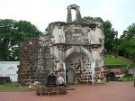 Remains of the Portuguese fort in Malacca
