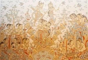 Bali kamasan painting 2