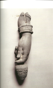 Hand of the Maitreya, the future Buddha, Gandhara, 3rd-4th century CE