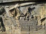 Javanese ship, Borobudur, 9th century