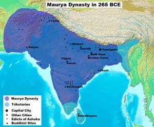 map-maurya-dynasty-in-265bce